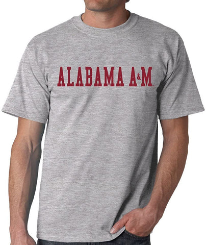 J2 Sport Alabama A&M Bulldogs NCAA Unisex Block Grey T-shirt