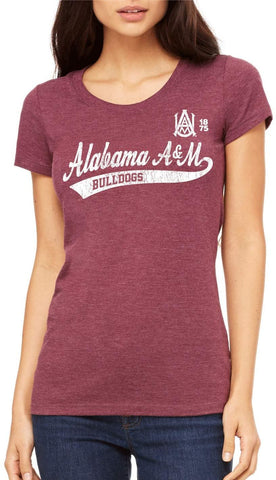J2 Sport Alabama A&M Bulldogs NCAA Old School Sport Tail Women's T-shirt