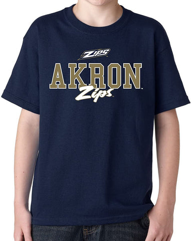 J2 Sport Akron Zips NCAA Campus Script Youth T-shirt