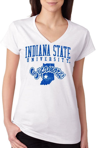 J2 Sport Indiana State Sycamores NCAA Jumbo Bleach Junior T-Shirt