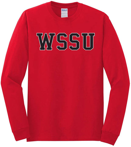 J2 Sport WSSU Winston-Salem State University Rams NCAA Unisex Long Sleeve T-Shirt