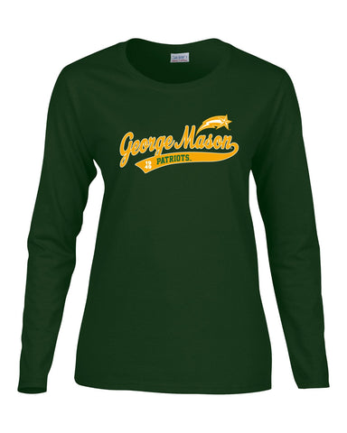 J2 Sport GMU George Mason University Patriots NCAA Old School Sports Tail Women's Long Sleeve T-Shirt