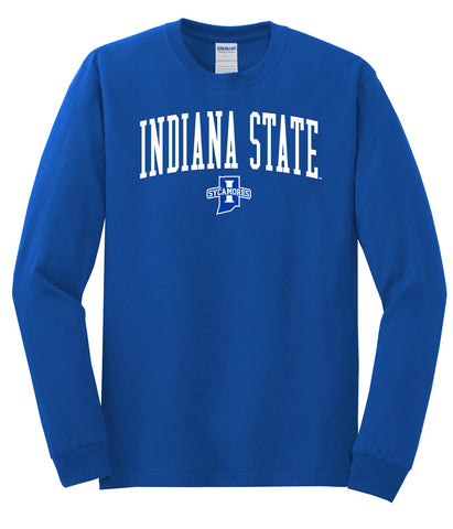 J2 Sport Indiana State University Sycamores NCAA Jumbo Arch Unisex Long Sleeve T-Shirt