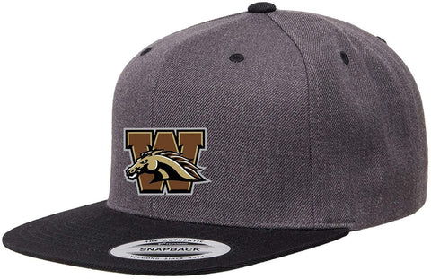 Western Michigan University Structured Flat Visor Classic Two-Tone Snapback Hat with Patch