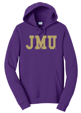 J2 Sport JMU James Madison University Dukes NCAA Block Unisex Hooded Sweatshirt