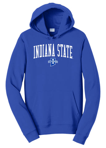 J2 Sport Indiana State University Sycamores NCAA Jumbo Arch Unisex Hooded Sweatshirt