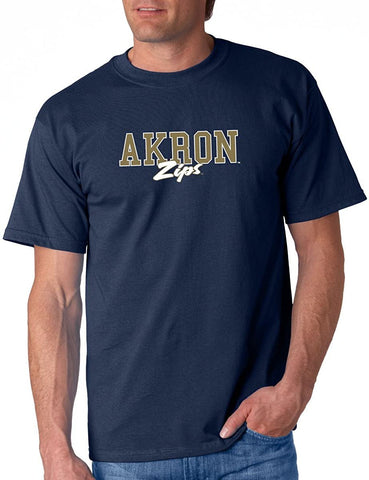 J2 Sport University of Akron Zips NCAA Unisex Campus Script T-shirt