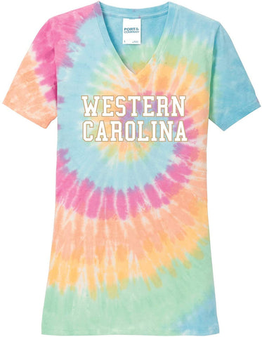 J2 Sport WCU Western Carolina University Catamounts NCAA Tie Dye T-Shirt