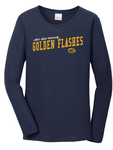 J2 Sport Kent State University Golden Flashes NCAA Uphill Victory Womens Long Sleeve T-Shirt