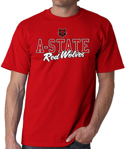 J2 Sport Arkansas State University Red Wolves NCAA Campus Script T-shirt