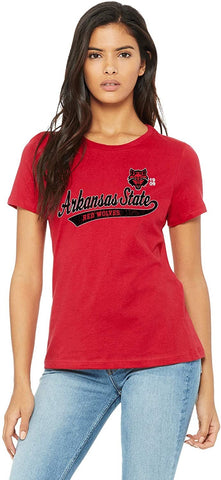 Large Old School J2 Sport Arkansas State University Red Wolves NCAA Womens Apparel