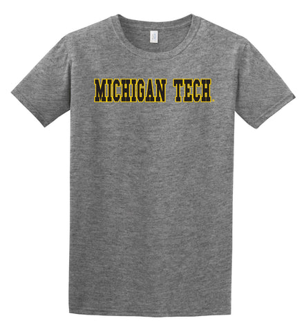 J2 Sport MTU Michigan Tech Huskies NCAA Block Unisex T-Shirt