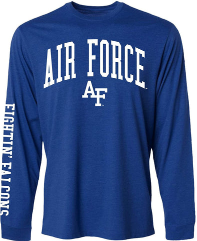 J2 Sport US Air Force Academy Falcons NCAA Unisex Jumbo Arch Royal Long Sleeve T-Shirts