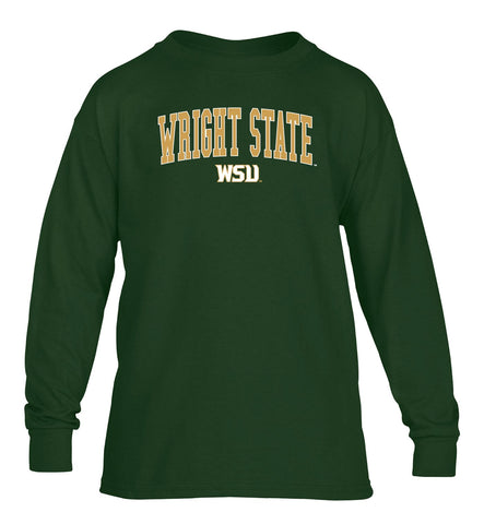 J2 Sport WSU Wright State University Raiders NCAA Jumbo Arch Youth Long Sleeve T-Shirt