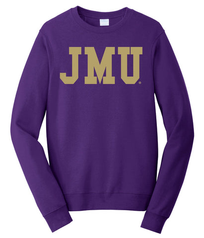 J2 Sport JMU James Madison University Dukes NCAA Block Unisex Crewneck Sweatshirt