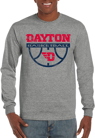 Basketball Long Sleeve J2 Sport Dayton Flyers NCAA Basketball Unisex Apparel