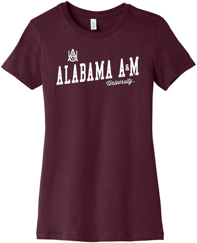 Uphill Victory J2 Sport Alabama A&M Bulldogs NCAA Womens Peach Cropped Hood