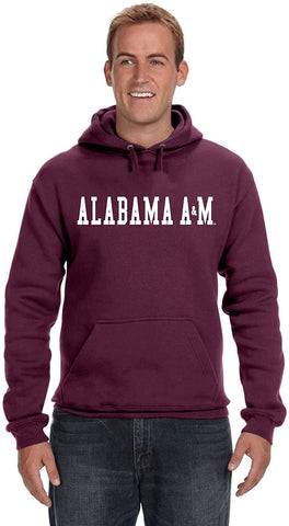 J2 Sport Alabama A&M Bulldogs NCAA Unisex Block Maroon Hooded Sweatshirt