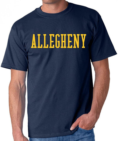 J2 Sport Allegheny College Gators NCAA Block Navy Unisex T-shirt