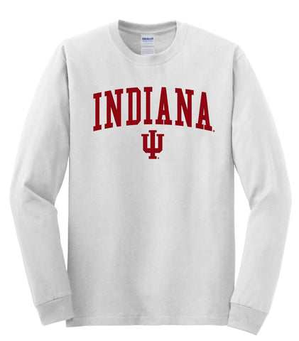 J2 Sport Indiana University Hoosiers NCAA Jumbo Arch Unisex Long Sleeve T-Shirt