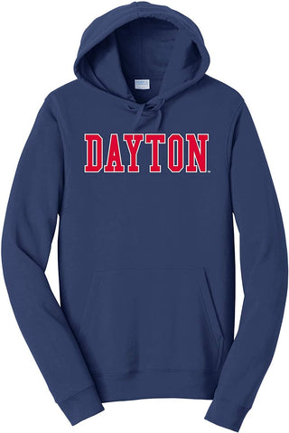 Block Navy Hood J2 Sport University of Dayton Flyers NCAA Unisex Hoodies and Sweatshirt