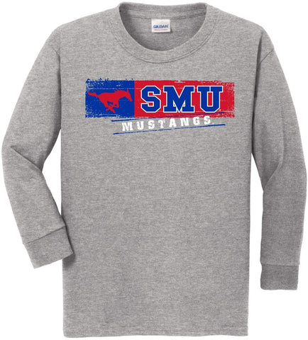 J2 Sport SMU Southern Methodist University Mustangs NCAA Youth Long Sleeve T-Shirt
