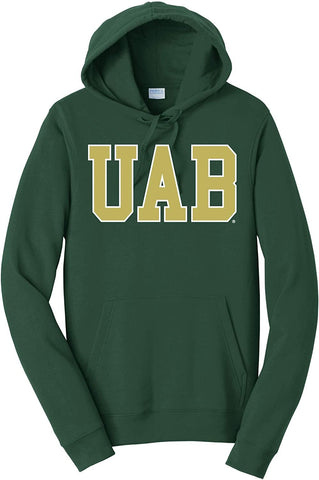 J2 Sport University of Alabama at Birmingham Blazers NCAA Block Forest Unisex Hooded Sweatshirt