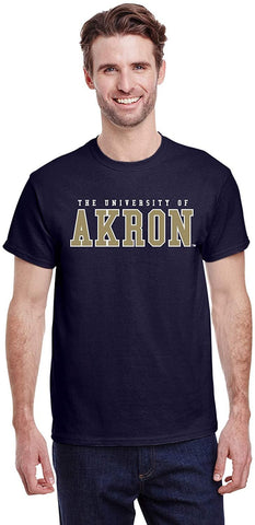 J2 Sport University of Akron Zips NCAA Unisex Block T-shirt