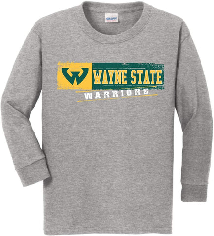 J2 Sport WSU Wayne State University Warriors NCAA Youth Long Sleeve T-Shirt