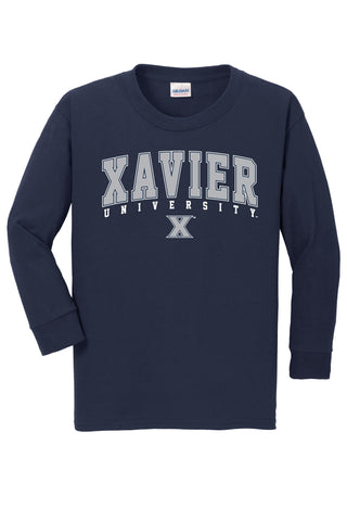 J2 Sport Xavier University Musketeers NCAA Jumbo Arch Youth Long Sleeve T-Shirt