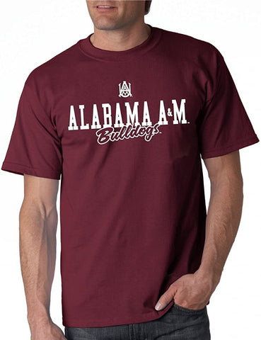 J2 Sport Alabama A&M Bulldogs NCAA Unisex Campus Script Maroon T-shirt