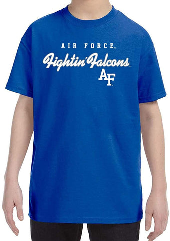 J2 Sport US Air Force Academy Falcons NCAA Machine Script Youth T-shirt