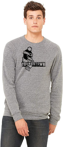 J2 Sport Youngstown State University Penguins NCAA Logo Eco Crew Neck Fleece
