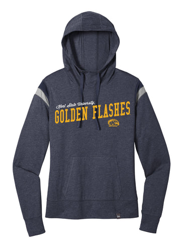 J2 Sport Kent State University Golden Flashes NCAA Uphill Victory Womens New Era Varsity Hooded T-Shirt