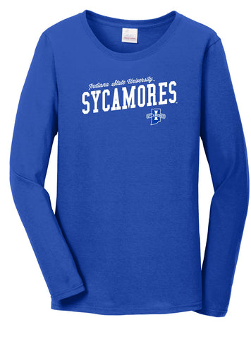 J2 Sport Indiana State University Sycamores NCAA Uphill Victory Womens Long Sleeve T-Shirt