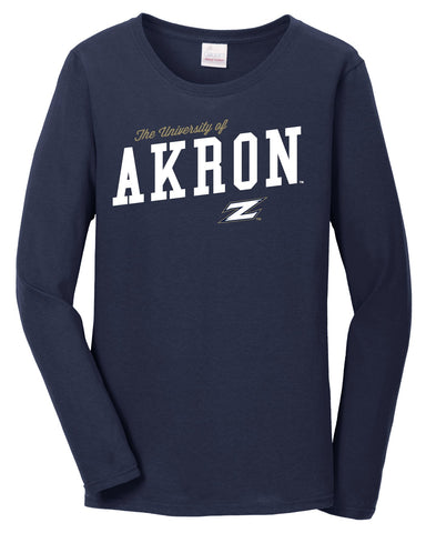 J2 Sport University of Akron Zips NCAA Women's Long Sleeve T-Shirts