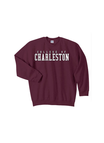 J2 Sport C of C College of Charleston Cougars NCAA Unisex Block Crewneck Sweatshirt