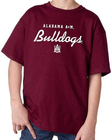 J2 Sport Alabama A&M Bulldogs NCAA Machine Script Youth T-shirt