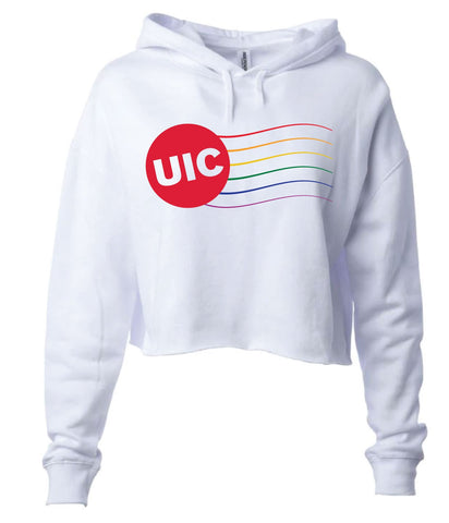 J2 Sport UIC University of Illinois at Chicago Flames NCAA Pride Cropped Hooded Sweatshirt