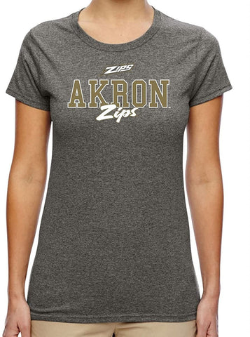 J2 Sport University of Akron Zips NCAA Campus Script Women's T-Shirt