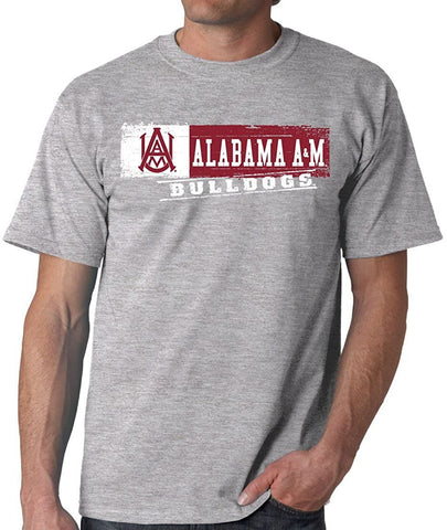 J2 Sport Alabama A&M Bulldogs NCAA Unisex Sticker Grey T-shirt