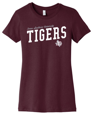 J2 Sport Texas Southern University Tigers NCAA Uphill Victory Womens T-Shirt