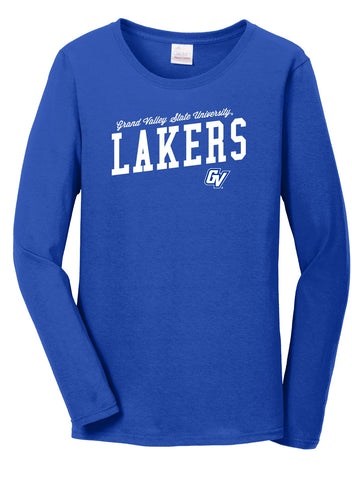 J2 Sport Grand Valley State University Lakers NCAA Uphill Victory Womens Long Sleeve T-Shirt