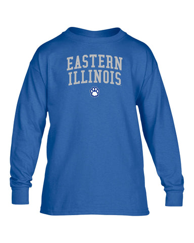 J2 Sport Eastern Illinois University Panthers NCAA Jumbo Arch Youth Long Sleeve T-Shirt