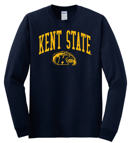 J2 Sport Kent State University Golden Flashes NCAA Jumbo Arch Unisex Long Sleeve T-Shirt