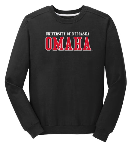 J2 Sport University of Nebraska at Omaha Mavericks NCAA Block Unisex Crewneck Sweatshirt