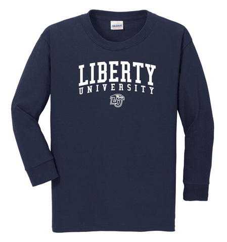 Liberty University Flames NCAA Jumbo Arch Youth Long Sleeve T-Shirt