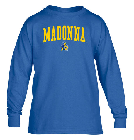 Madonna University Crusaders NCAA Jumbo Arch Youth Long Sleeve T-Shirt