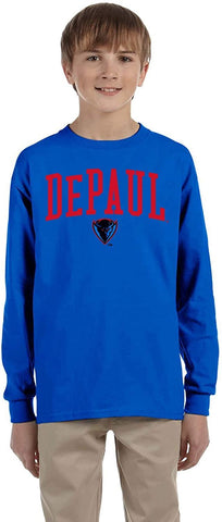J2 Sport DePaul University Blue Demons NCAA Youth Long Sleeve T-Shirts