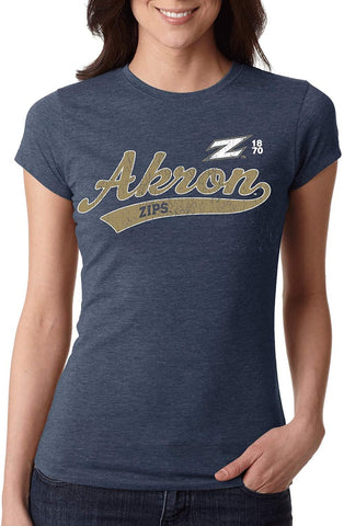 J2 Sport University of Akron Zips NCAA Old School Women's T-Shirt